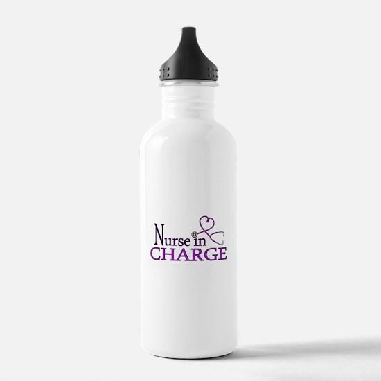 Nurse in Charge - Purp Water Bottle