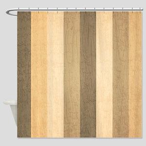 Wood Pattern Shower Curtain