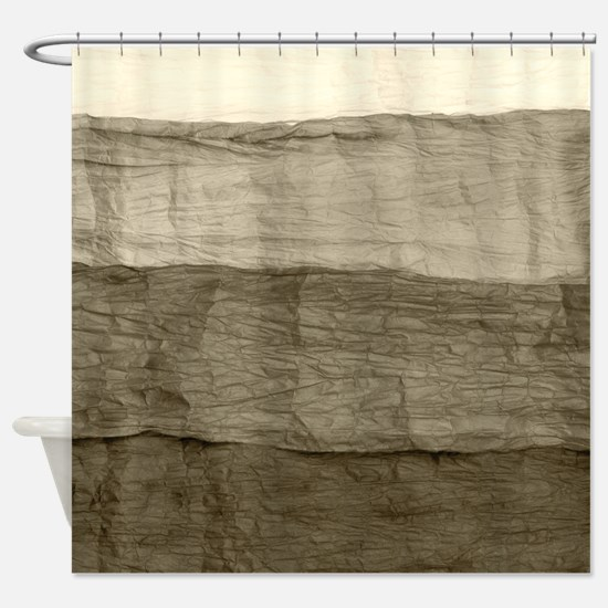 Faux Crumpled Texture Shower Curtain