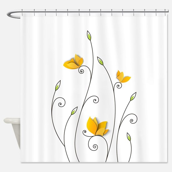 Paper Butterflies Shower Curtain