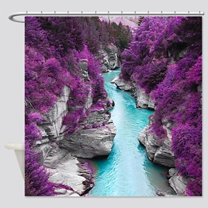 Purple Cliffs Shower Curtain