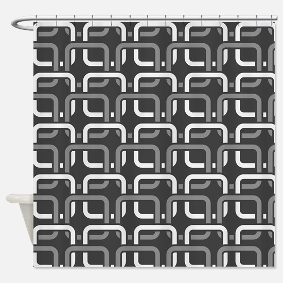 Chain Link Pattern Shower Curtain
