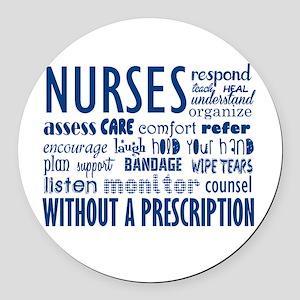 nurses Round Car Magnet