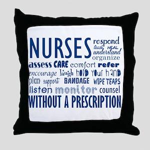 nurses Throw Pillow