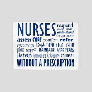 nurses 5'x7'Area Rug
