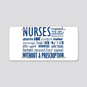 nurses Aluminum License Plate