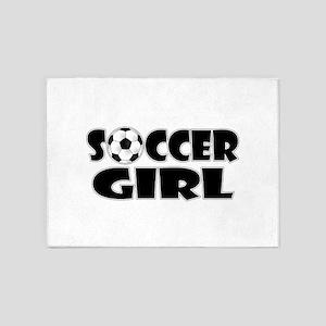 Soccer Girl 5'x7'Area Rug