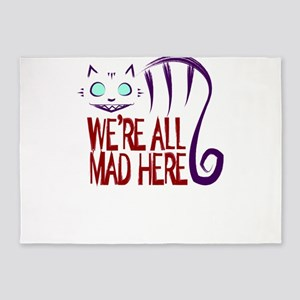 We're All Mad Here 5'x7'Area Rug