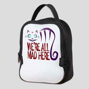 We're All Mad Here Neoprene Lunch Bag