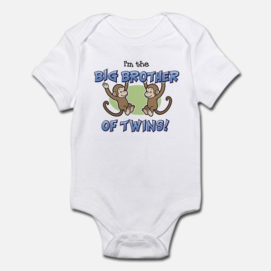 Big Brother of Twins (Monkey) Infant Bodysuit