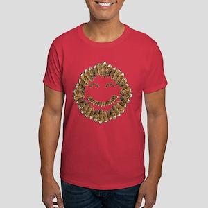 Morel Mushrooms Smiley face: Dark T-Shirt