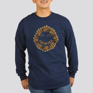 Morel Mushrooms Smiley face: Long Sleeve Dark T-Sh