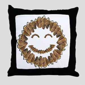 Morel Mushrooms Smiley face: Throw Pillow