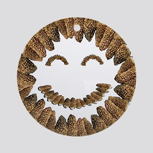 Morel Mushrooms Smiley face: Ornament (Round)