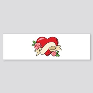 Valentine Heart Bumper Sticker