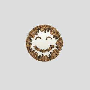 Morel Mushrooms Smiley face: Mini Button