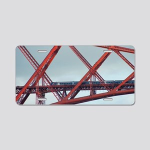 forth bridge closeup Aluminum License Plate
