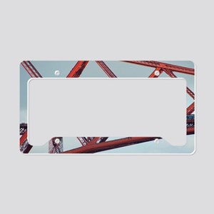 forth bridge closeup License Plate Holder