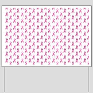 Breast Cancer Awareness Pink Ribbon Yard Sign