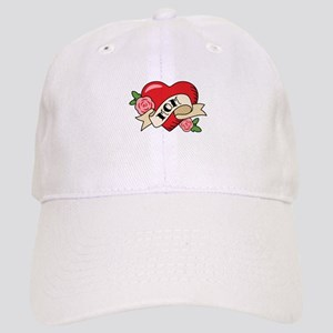 Mom Heart Baseball Cap