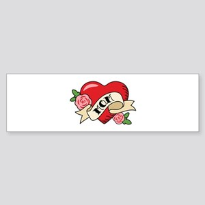 Mom Heart Bumper Sticker
