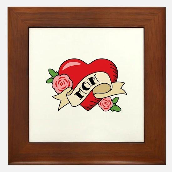Mom Heart Framed Tile