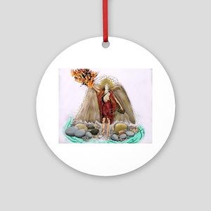Arch Angel Uriel Round Ornament