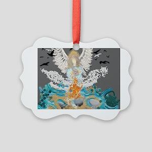 Arch Angel Ariel Picture Ornament