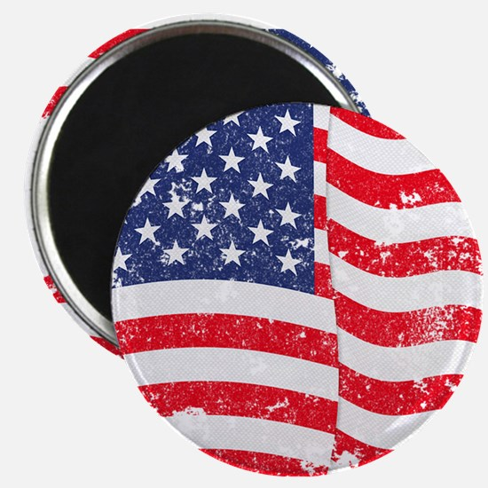 "American Flag Waving distr 2.25"" Magnet (100 pack)"