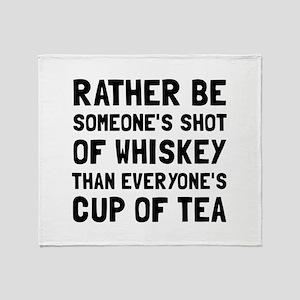 Shot Of Whiskey Throw Blanket