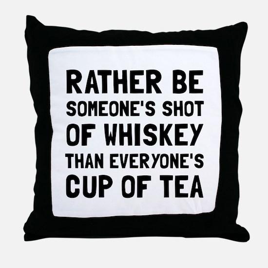 Shot Of Whiskey Throw Pillow