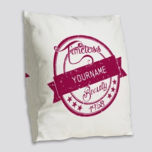 1958 Timeless Beauty Burlap Throw Pillow