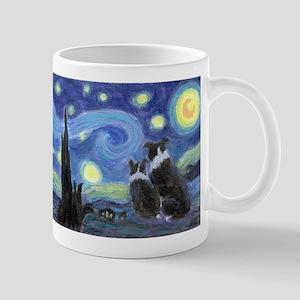 Starry Night Border Collies Mugs