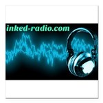 Inked Radio Square Car Magnet 3
