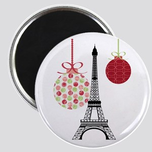 Merry Christmas Eiffel Tower Ornaments Magnets