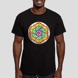 Flower of Life Chakra Men's Fitted T-Shirt (dark)