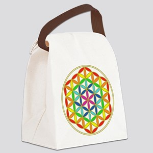Flower of Life Chakra Canvas Lunch Bag