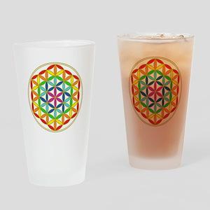 Flower of Life Chakra Drinking Glass
