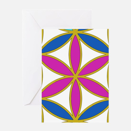 Flower of Life Chakra Greeting Card