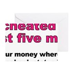 Cheated On Greeting Cards