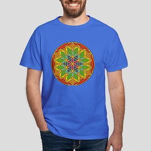 Flower of Life Chakra1 Dark T-Shirt