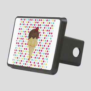 Ice Cream Cone on Polka Dots Hitch Cover