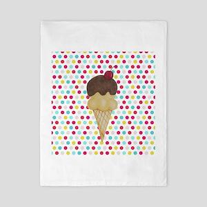 Ice Cream Cone on Polka Dots Twin Duvet