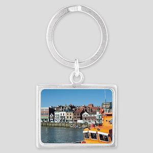 whitby lifeboat Landscape Keychain