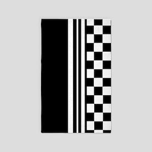 Stylish designer Stripes and checks 3'x5' Area Rug