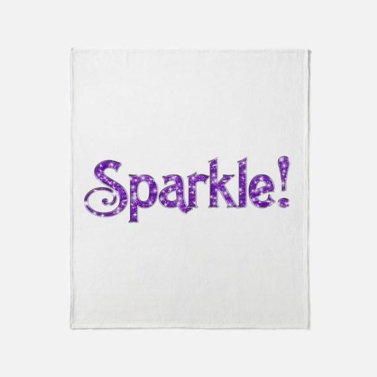 Sparkle! Logo Throw Blanket