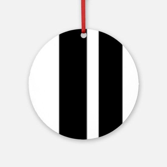 Stylish designer Stripes and checks Ornament (Roun