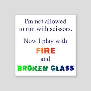 Fire And Broken Glass Sticker