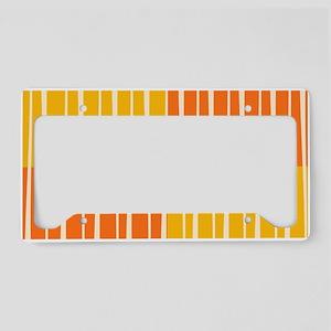 Abstract Summer swirls License Plate Holder