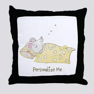 Sleeping Mouse Throw Pillow